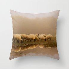 Foggy Sheep Throw Pillow