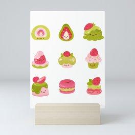 Strawberry Matcha Mini Art Print