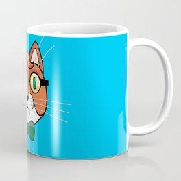 cat writer with a pipe Coffee Mug