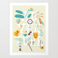 adventure Art Prints featuring Adventure  by Wharton