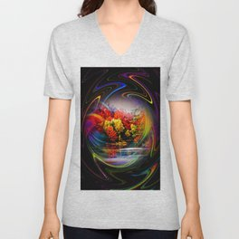 Abstract Perfection 42 Autumn Unisex V-Neck