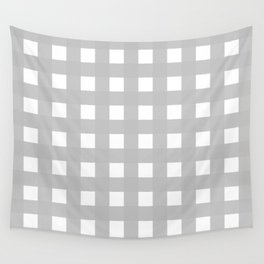 Gingham (Silver/White) Wall Tapestry