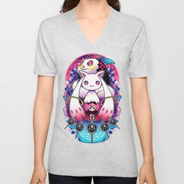 Kyubey and Charlotte Unisex V-Neck