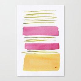 17   |181026 Lines & Color Block | Watercolor Abstract | Modern Watercolor Art Canvas Print