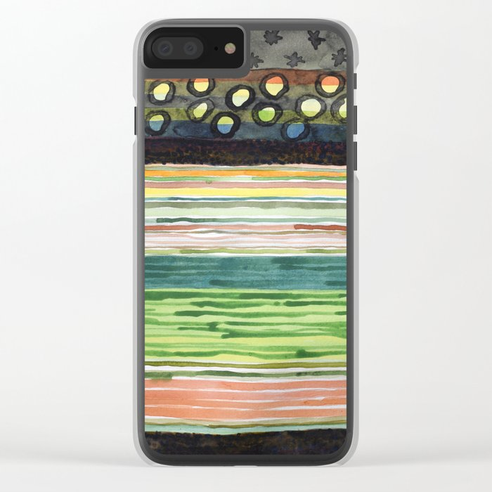 The Stack Draft Clear iPhone Case