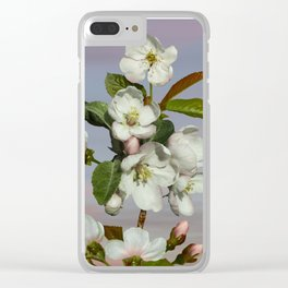 Spade's Apple Blossoms Clear iPhone Case