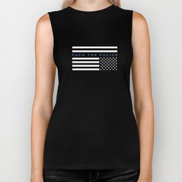 Fuck the Police American Flag Biker Tank