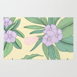 Jungle Daydream Purple Floral Print Rug