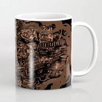 military Mugs featuring Military skull by barmalisiRTB