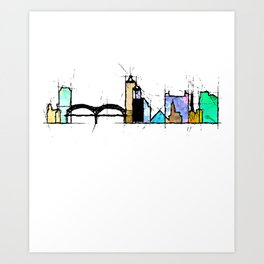 Memphis city Art Print