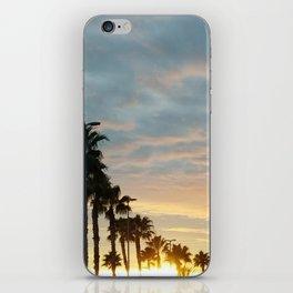 Palm tree sunset iPhone Skin