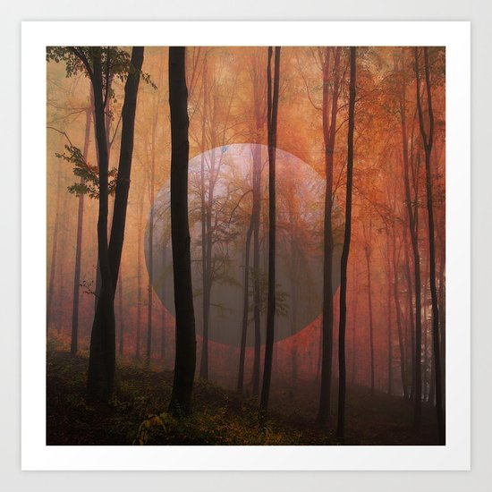 Not From Here, Surreal Forest Art Print