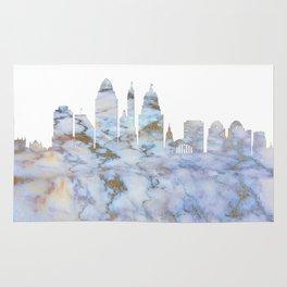 Cincinnati Ohio Skyline Rug
