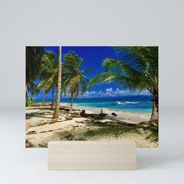 Tropical Palms San Blas Panama Sandy Beach Island Mini Art Print