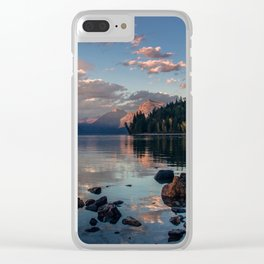 Lake Mcdonald Sunset - Glacier NP Clear iPhone Case