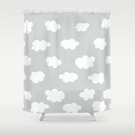 Grey Sky Shower Curtain