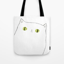 White Cat Face Tote Bag