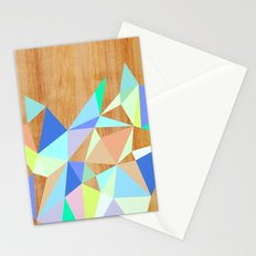 Wooden Geo Aqua Stationery Cards