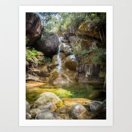 Lady Bath Falls - Mt Buffalo Art Print