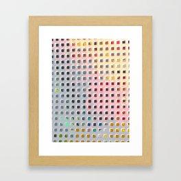 Coloring the Grid Framed Art Print