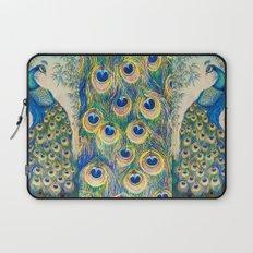 Blue Peacocks Laptop Sleeve