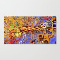chicago Canvas Prints featuring chicago by donphil