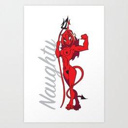 Naughty Devil Art Print