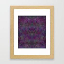 Multi- coloured Grass Design Framed Art Print
