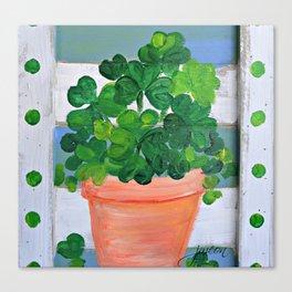 Lucky Shamrocks Canvas Print