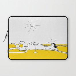 Lazy Sunbathing Cat Laptop Sleeve