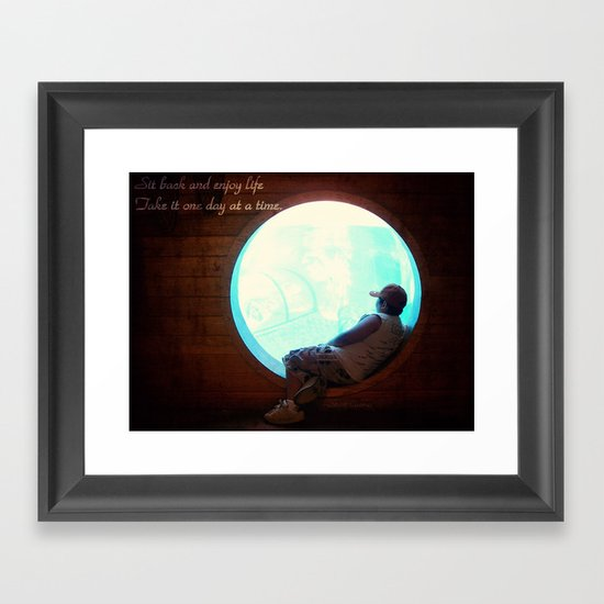 Enjoy Life Framed Art Print