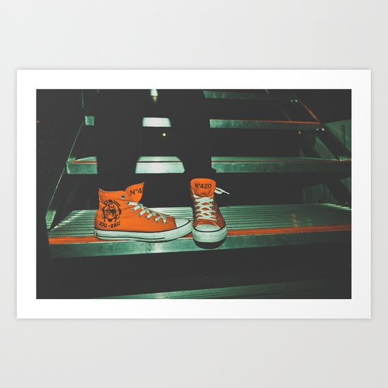 can i kick it?...yes you can.  Art Print