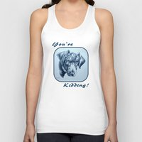 labrador Tank Tops featuring You're Kidding : Black Labrador by Patricia Howitt
