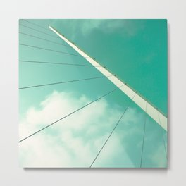 Look Up (Retro and Vintage Urban, architecture photography) Metal Print