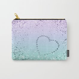 Sparkling MERMAID Girls Glitter Heart #1 #decor #art #society6 Carry-All Pouch