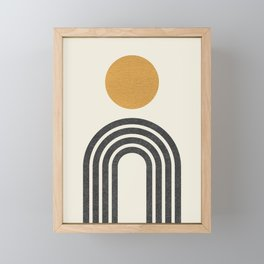 Mid century modern gold Framed Mini Art Print