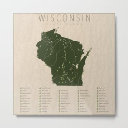 Wisconsin Parks Metal Print