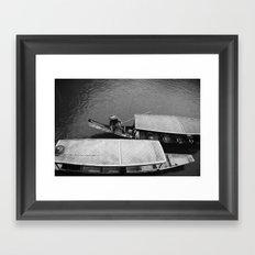 two boats Framed Art Print