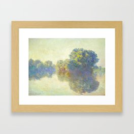 The Seine at Giverny Claude Monet 1897 Impressionist Oil Painting Nature Trees Lake Landscape Framed Art Print