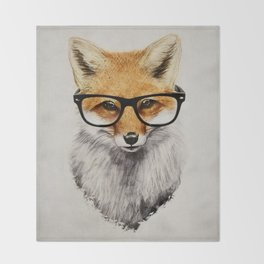 Mr. Fox Throw Blanket