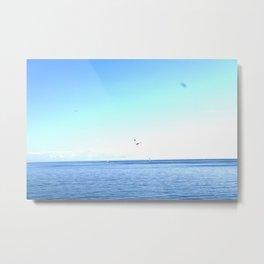Lake Ontario: Seagulls & Sailboats Metal Print