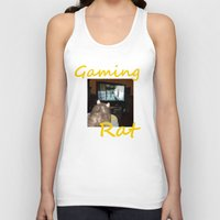 gaming Tank Tops featuring gaming rat by Mindgoop