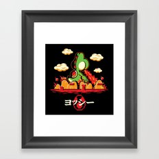 Yoshzilla Framed Art Print