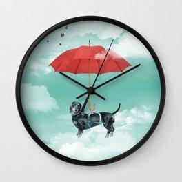 Dachshund chute Wall Clock
