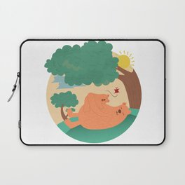 bear-ther and daughter-ooo nina bobo Laptop Sleeve