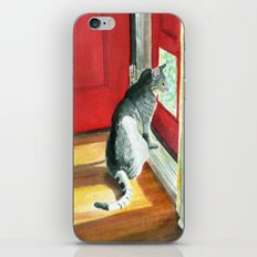 Quigley the Door Cat iPhone & iPod Skin