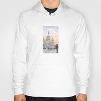 moscow Hoodies featuring Moscow Sunset by Claire Moose