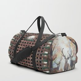 Morning Deer Border Duffle Bag