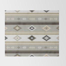 Neutral Kilim Throw Blanket