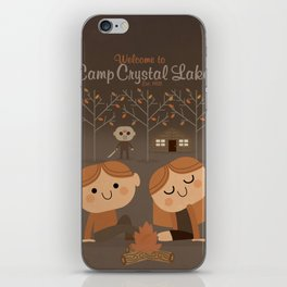 welcome to camp crystal lake iPhone Skin